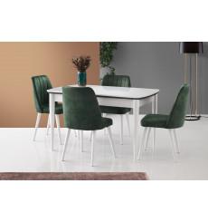 Ensemble table et 4 chaises Sofia