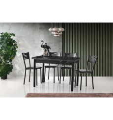 Ensemble table et 4 chaises Kinga