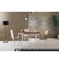 Ensemble table et 4 chaises Lobos