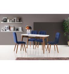Ensemble table et 4 chaises Santana