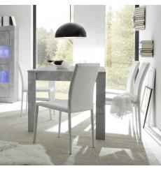 Table à manger extensible BASIC finition béton 137-185/79/90 cm