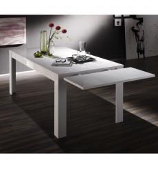 Table à manger extensible BASIC finition blanc laqué 137-185/79/90 cm