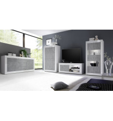 Salon complet BASIC blanc béton