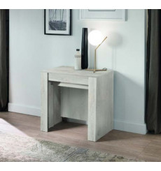 Table/console extensible 54-252 cm Pin blanc