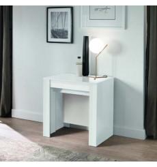 Table/console extensible 54-252 cm blanc laqué