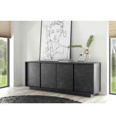 Buffet VISCONTI finition marbre noir 180 cm