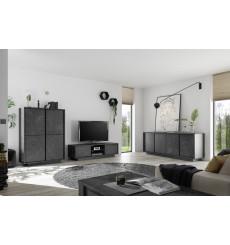 Salon complet VISCONTE effet marbre noir