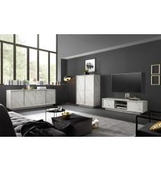 Salon complet VISCONTE effet marbre blanc
