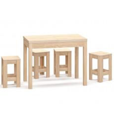 Ensemble table extensible et 4 tabouret NATALIA