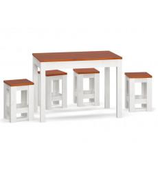 Ensemble table extensible et 4 tabouret DARIA