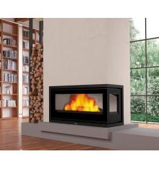 Insert cheminée à bois BOMA 15 KW DROIT avec turbine