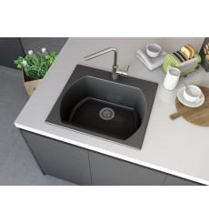 Evier simple Americano I 635 x 559 x 221mm Anthracite