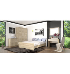 Chambre complète AGATHA Chene Clair 160*200 cm