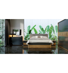Chambre Romana , lave mat et chêne clair 180x200 cm