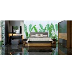 Chambre Romana II , lave mat et chêne clair 180x200 cm
