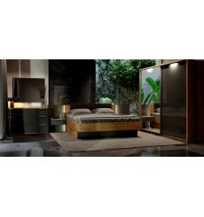 Chambre LINA , lave mat et chêne clair 180x200 cm