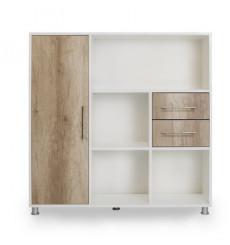 Bibliothèque ALASKA 2 tiroirs, 1 armoire
