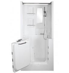 Combiné baignoire à porte balnéo CHORA 100*78cm