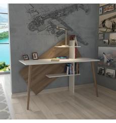 Bureau WIND Blanc - noyer