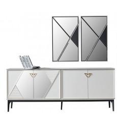 Buffet STAR 4 portes + miroir