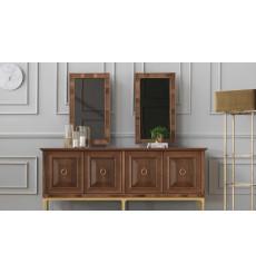 Buffet NEPAL BOIS 4 portes + miroir