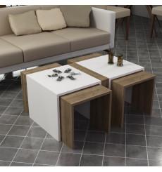 Table basse CONTRY blanc-chêne