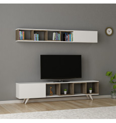 Ensemble meuble TV DORUK BLANC - NOYER