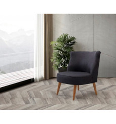 Fauteuil crapaud gris anthracite