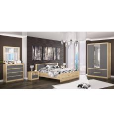 Chambre complète DONNA gris 160x200 cm