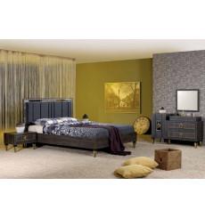 Chambre adulte complète SILVA noir 160 x 200 cm
