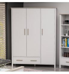 Armoire 3 Portes Blanc Cordoba 192 x 53 x 147
