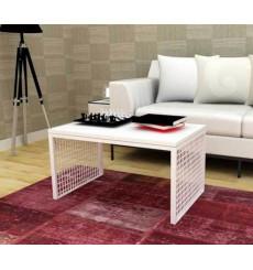 Table basse blanche TERA 80 cm