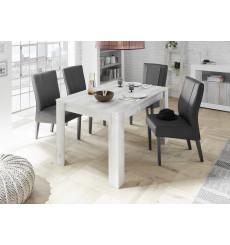 Table extensible SAMANTHA effet pin blanc 137-48/79/90 cm