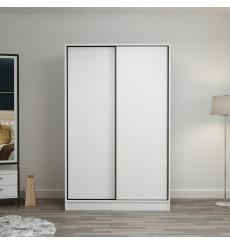 Armoire Coulissante 2 Portes Blanc 190 x 60 x 120