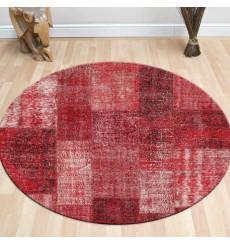 Tapis Patchwork Rouge 120 x 120 cm