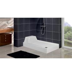 Receveur de douche rectangulaire avec assise ENCEF en plusieurs dimensions