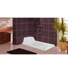 Receveur de douche rectangulaire avec assise NONAC en plusieurs dimensions