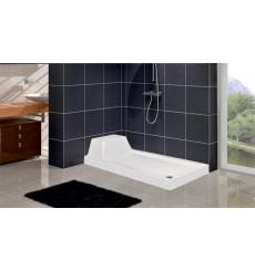 Receveur de douche rectangulaire avec assise TECH en plusieurs dimensions