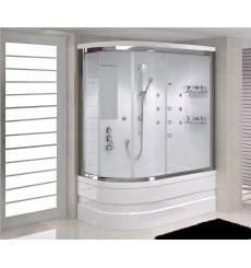 Combiné baignoire-douche FELIX MINI SYSTEM-1 angle droit en 100/110/120 x 80 cm
