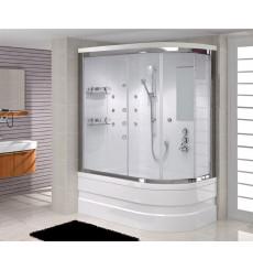 Combiné baignoire-douche FELIX MINI SYSTEM-1 angle gauche en 100/110/120 x 80 cm