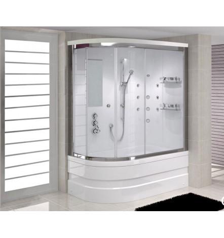 Combiné baignoire-douche DIANA angle droit en 140/150/160 x 75cm