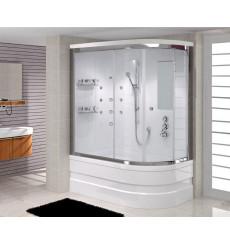 Combiné baignoire-douche DIANA SYSTEM-1 angle gauche en 140/150/160 x 75 cm
