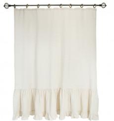 Rideau en coton simple voilage VINTAGE beige en plusieurs dimensions