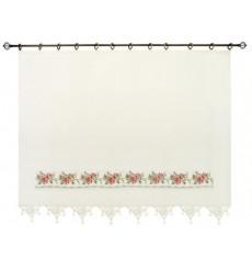 Rideau en coton simple voilage ROSE en plusieurs dimensions