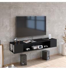 Meuble TV suspendu PETI noir 135 cm