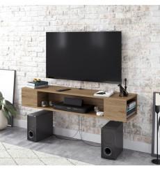 Meuble TV suspendu PETI noyer 135 cm