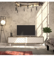 Meuble TV ROB blanc 180 cm