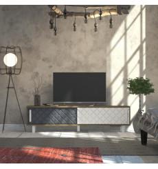 Meuble TV ROB blanc et anthracite 180 cm