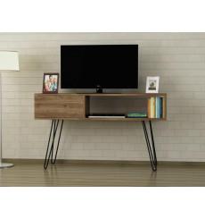 Meuble TV LARA métal noyer 120 cm