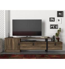 Meuble TV ARAMIS noyer 180 cm